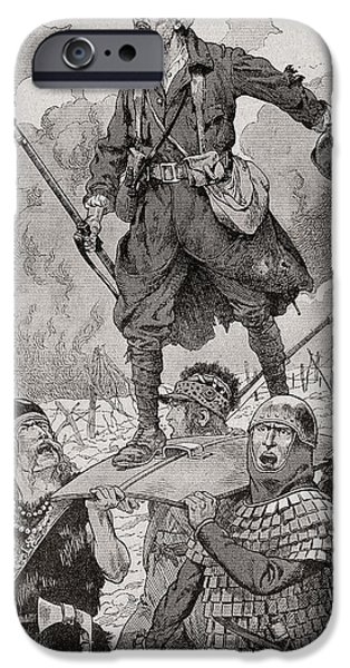 World War One Photographs iPhone Cases - French Propaganda Poster Entitled On Les Aura, Or We Will Have Them.  Four Soldiers From Different iPhone Case by Bridgeman Images