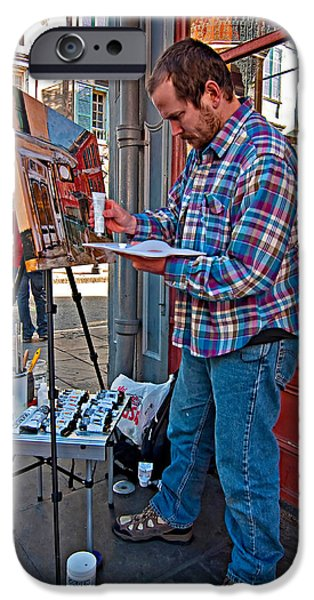 Painter Print Photographs iPhone Cases - French Quarter Artist iPhone Case by Steve Harrington