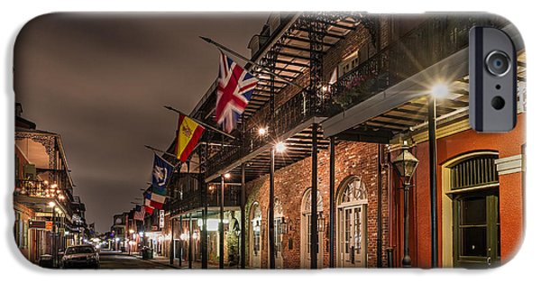 Louisiana Photographs iPhone Cases - French Quarter Flags iPhone Case by Tim Stanley