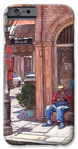 French Doors iPhone Cases - French Quarter Royal St. iPhone Case by John Boles