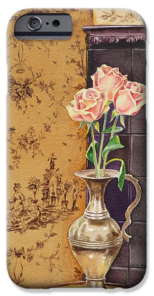 Pink Roses iPhone Cases - French Roses iPhone Case by Irina Sztukowski
