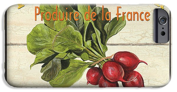 Graphic Design Paintings iPhone Cases - French Vegetable Sign 1 iPhone Case by Debbie DeWitt