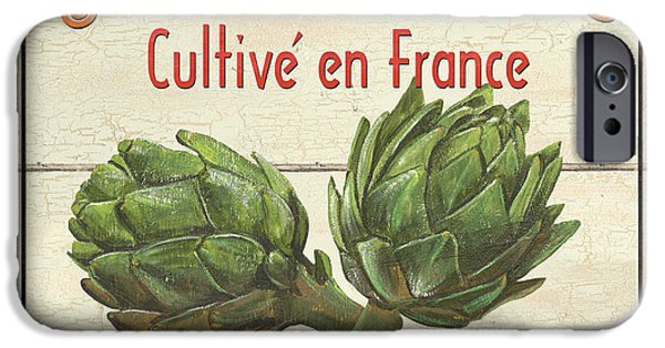 Graphic Design iPhone Cases - French Vegetable Sign 2 iPhone Case by Debbie DeWitt