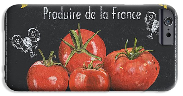 Antiques iPhone Cases - French Vegetables 1 iPhone Case by Debbie DeWitt