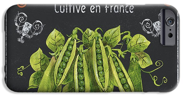 Antiques iPhone Cases - French Vegetables 2 iPhone Case by Debbie DeWitt