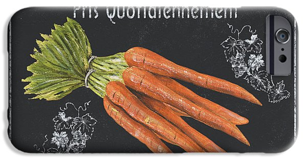 Antiques iPhone Cases - French Vegetables 4 iPhone Case by Debbie DeWitt