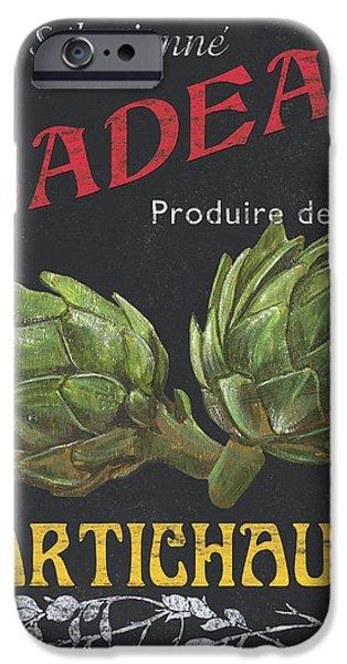 French Veggie Labels 1 iPhone Case by Debbie DeWitt
