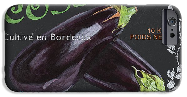 Graphic Design Paintings iPhone Cases - French Veggie Labels 4 iPhone Case by Debbie DeWitt
