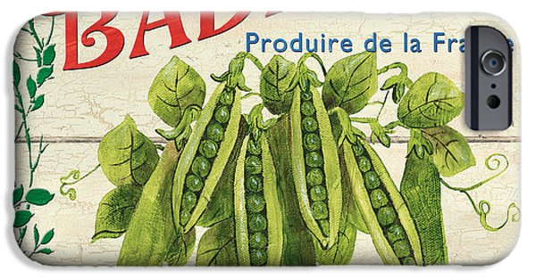 Graphic Design Paintings iPhone Cases - French Veggie Sign 1 iPhone Case by Debbie DeWitt
