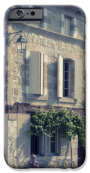 South West France iPhone Cases - French Village House iPhone Case by Nomad Art And  Design