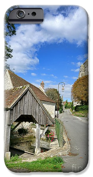 French Village Road iPhone Case by Olivier Le Queinec