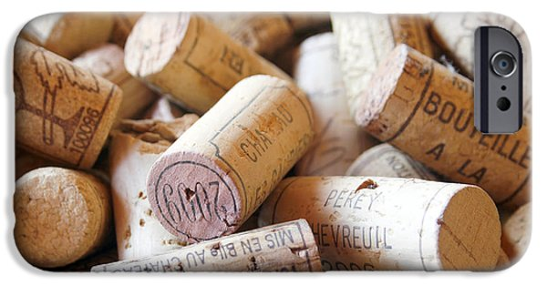 Wine Bottles Photographs iPhone Cases - French Wine Corks iPhone Case by Georgia Fowler