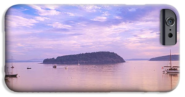 Pastel iPhone Cases - Frenchman Bay, Bar Harbor, Maine, Usa iPhone Case by Panoramic Images