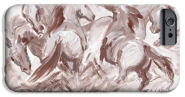 Llmartin iPhone Cases - Frenzy iPhone Case by Linda L Martin
