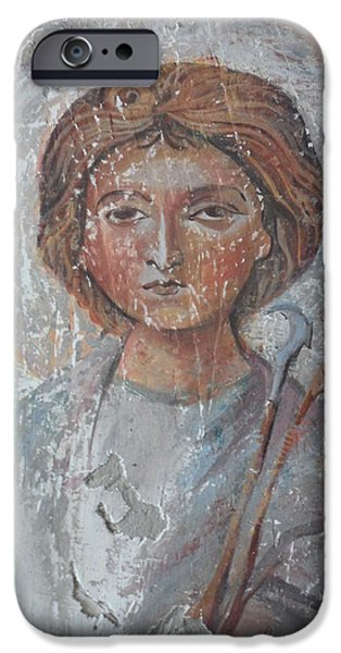 Icons Reliefs iPhone Cases - Fresco of St.Trifun iPhone Case by Antoni Golabovski