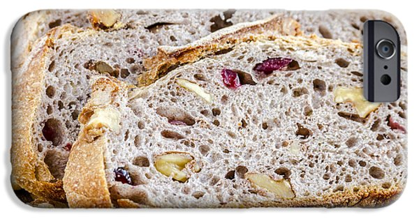 Toaster iPhone Cases - Fresh Baked Cranberry Walnut Bread iPhone Case by Teri Virbickis