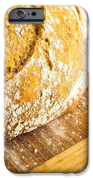 Bread iPhone Cases - Fresh Baked Loaf of Artisan Bread iPhone Case by Edward Fielding