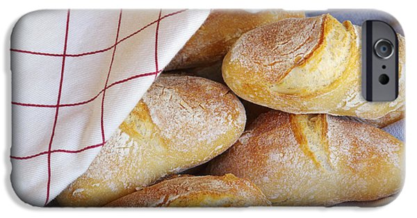 Table Cloth iPhone Cases - Fresh Bread iPhone Case by Carlos Caetano