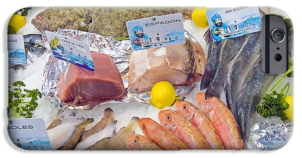 Aquatic Display iPhone Cases - Fresh Fish Counter Display iPhone Case by Martyn F. Chillmaid