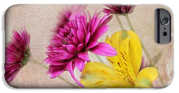 Floral Digital Art Digital Art iPhone Cases - Fresh Flowers iPhone Case by Judy Vincent