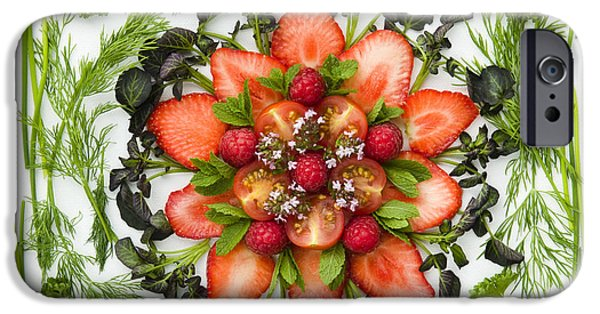 Watercress iPhone Cases - Fresh Fruit Salad iPhone Case by Anne Gilbert