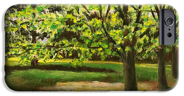 Nature Center Paintings iPhone Cases - Fresh Green Spring iPhone Case by Janet Felts