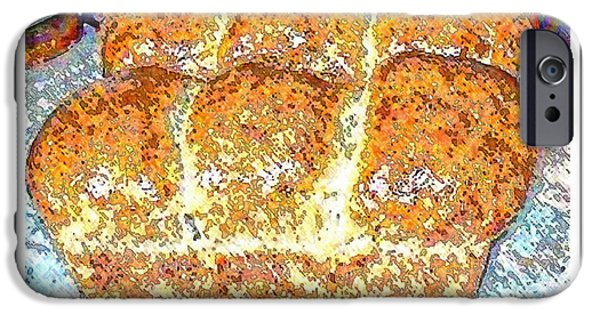 Loaf Of Bread iPhone Cases - Fresh Homemade Bread 2 iPhone Case by Barbara Griffin