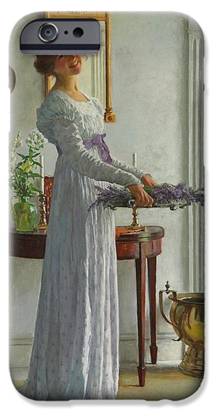 Young Adult iPhone Cases - Fresh Lavender iPhone Case by William Henry Margetson