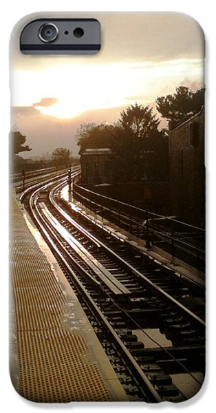 Ridgewood iPhone Cases - Fresh Pond Rd Station iPhone Case by Mieczyslaw Rudek Mietko