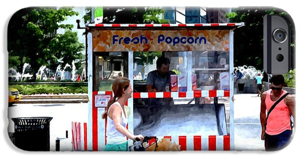 Business Paintings iPhone Cases - Fresh Popcorn iPhone Case by Lanjee Chee