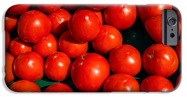 Ripe Photographs iPhone Cases - Fresh Ripe Red Tomatoes iPhone Case by Edward Fielding