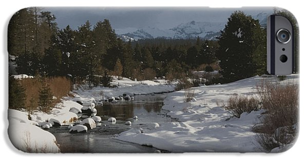 West Fork iPhone Cases - Fresh Snow along the West Fork of the Carson River iPhone Case by John Gaffney