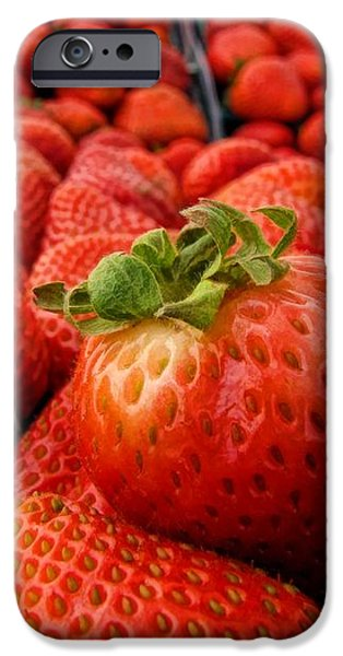 fresh strawberries iPhone Case by Peggy J Hughes
