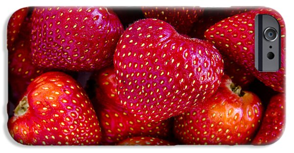 Locally Grown iPhone Cases - Fresh Strawberries iPhone Case by Teri Virbickis