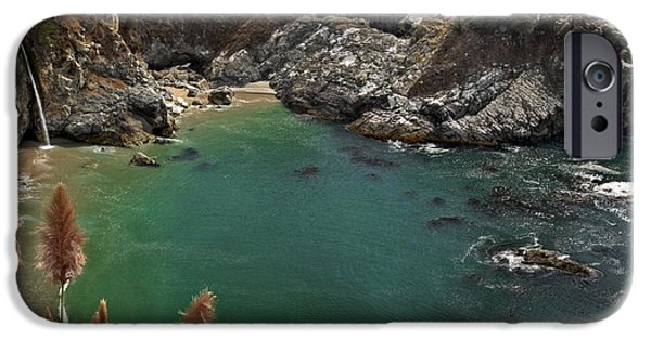 Big Sur Ca iPhone Cases - Fresh Water Into The Bay iPhone Case by Adam Jewell
