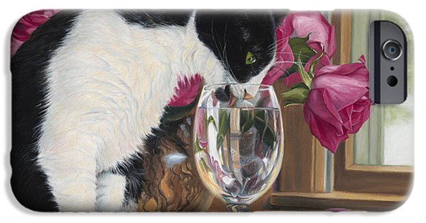 Feline iPhone Cases - Fresh Water iPhone Case by Lucie Bilodeau