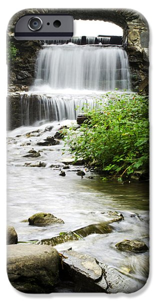 Nature Scene iPhone Cases - Fresh Water Stream Under Bridge iPhone Case by Christina Rollo
