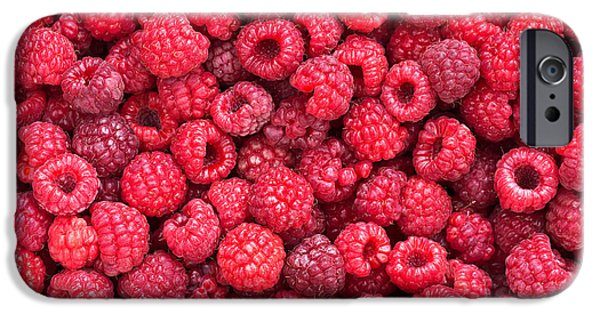 Raspberry iPhone Cases - Freshly picked iPhone Case by Delphimages Photo Creations