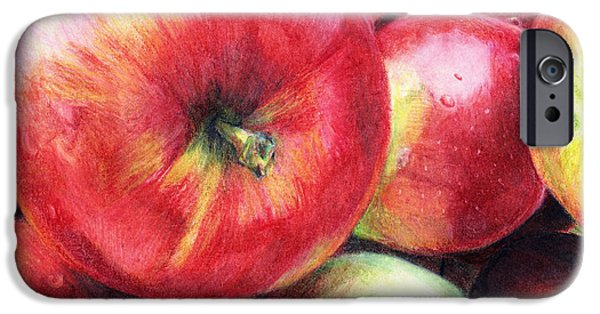 Snack Drawings iPhone Cases - Freshly Picked iPhone Case by Shana Rowe