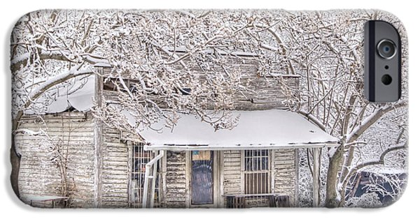 Rural Snow Scenes iPhone Cases - Freshwater Grocery iPhone Case by Benanne Stiens