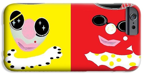 Bestfriend iPhone Cases - Frick and Frack  iPhone Case by Sharon Ann Calvo