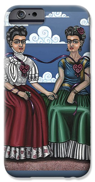 Diego Rivera iPhone Cases - Frida Beside Myself iPhone Case by Victoria De Almeida