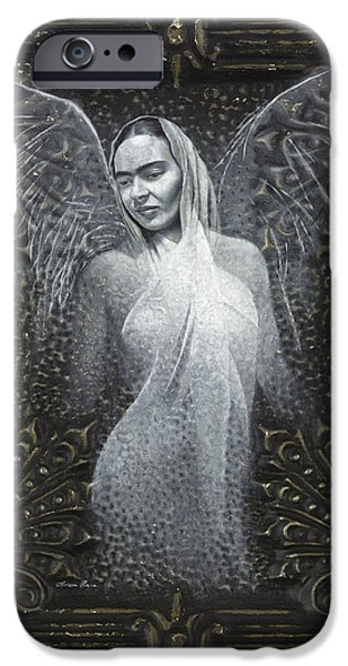 Frida Guardian of the Arts iPhone Case by Lorena Rivera