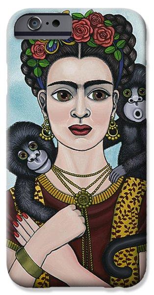Diego Rivera iPhone Cases - Frida In The Sky iPhone Case by Victoria De Almeida