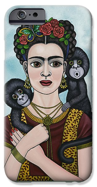 Diego Rivera iPhone Cases - Frida In The Sky iPhone Case by Victoria De Almeida