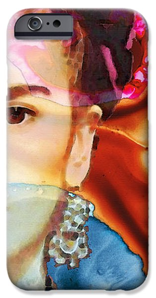 Pebbles iPhone Cases - Frida Kahlo Art - Seeing Color iPhone Case by Sharon Cummings