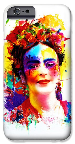 Diego Rivera iPhone Cases - Frida Kahlo iPhone Case by Isabel Salvador
