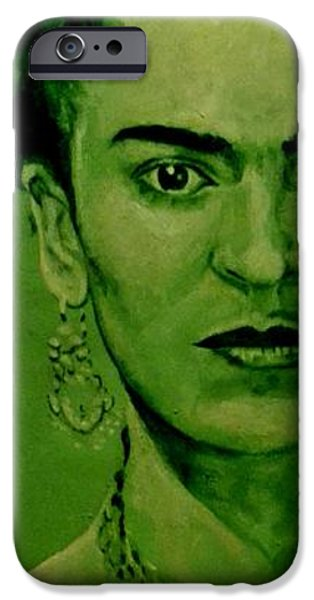 Diego Rivera iPhone Cases - Frida Kahlo - red bow iPhone Case by Richard Tito