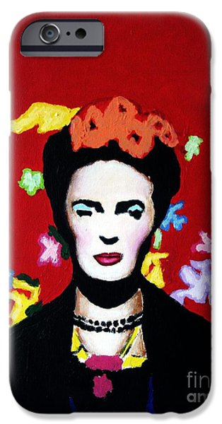 Modernism Mixed Media iPhone Cases - Frida Kahlo iPhone Case by Venus