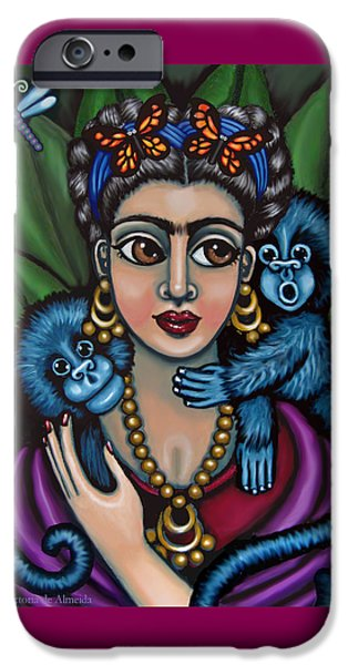 Diego Rivera iPhone Cases - Fridas Monkeys iPhone Case by Victoria De Almeida